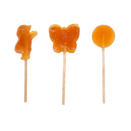 3 different Raw Honey Lollipop