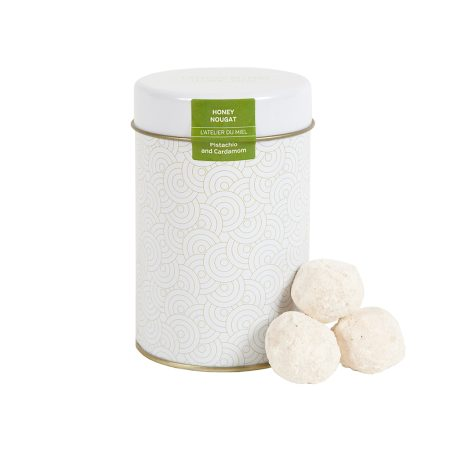 pistachio and cardamom white nougat box