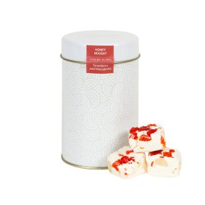Strawberry and Macadamia White Nougat box